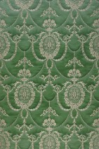 Wallpaper Rabia Shimmering Baroque damask Pastel green Pearl beige