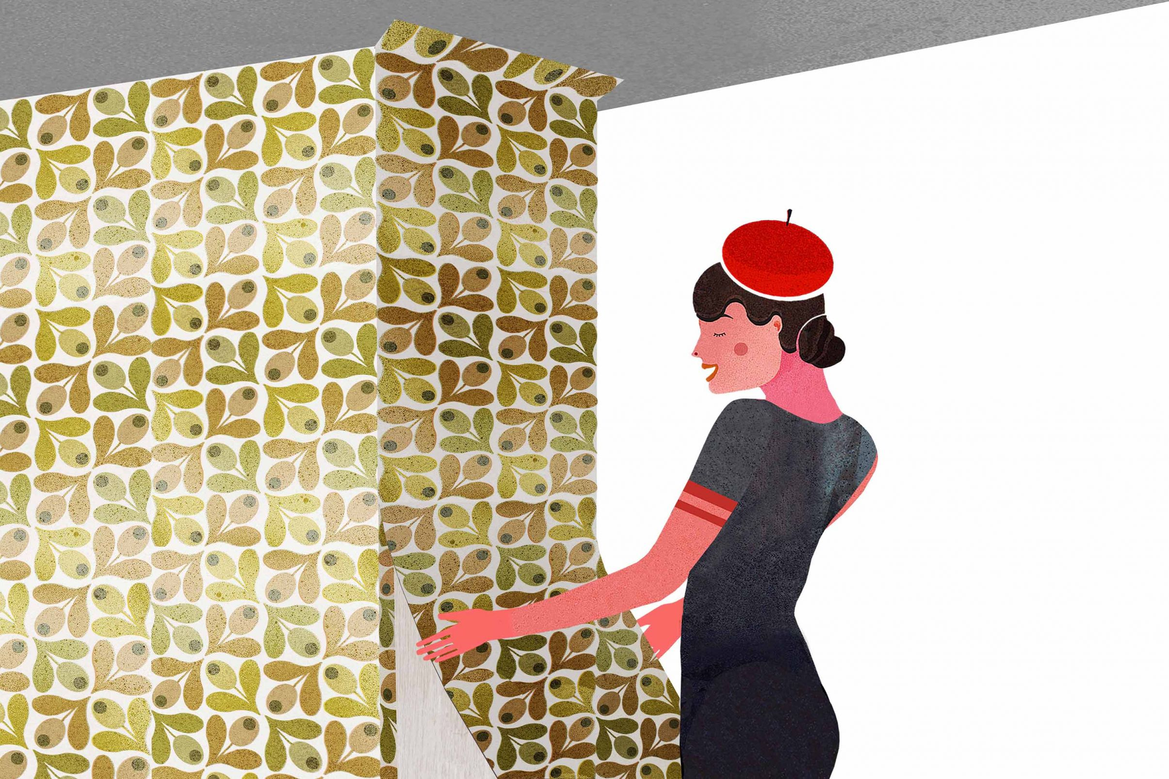 How-to-wallpaper-in-corners-Putting-a-wallpaper-length-up-around-the-outer-corners