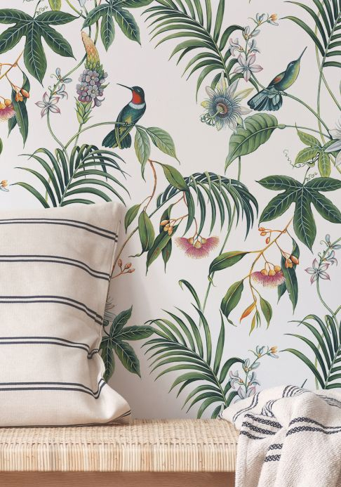 Botanical Wallpaper Wallpaper Oasis cream Room View