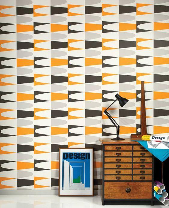 Archiv Papier peint Jaron orange pâle Vue pièce