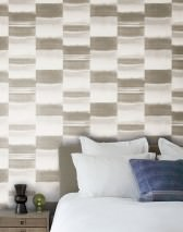 Wallpaper Fenegra Matt Graphic elements Stripes Beige grey Grey white Light ivory Light grey