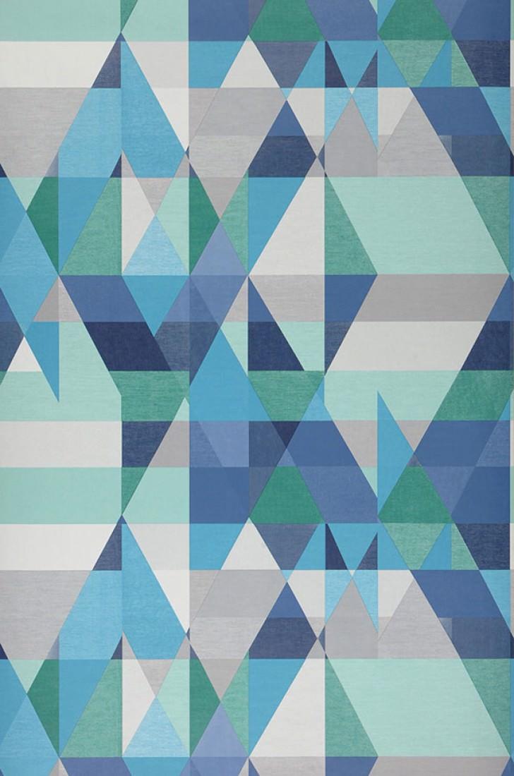 Papel de parede zewana azul escuro branco acinzentado for Papel pared turquesa