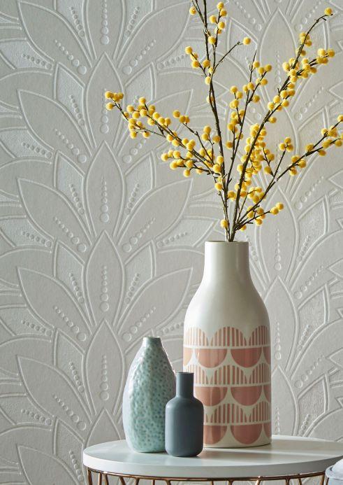 Flock Wallpaper Wallpaper Fadila cream Room View