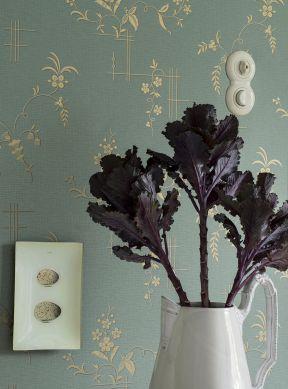 Wallpaper Fiselto light mint turquoise Room View