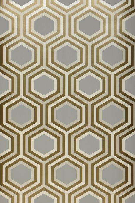 Papier peint géométrique Papier peint Malwin gris clair  Bahnbreite