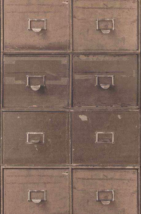 Archiv Wallpaper Lombette grey brown Roll Width