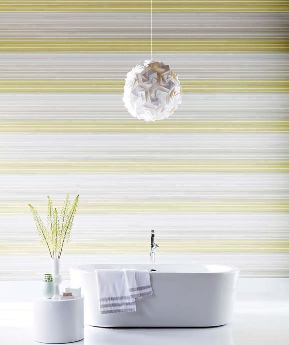 Archiv Wallpaper Lino sand yellow Room View