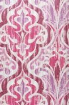 Wallpaper Artio Matt Baroque damask Cream Pale violet shimmer Claret violet Magenta