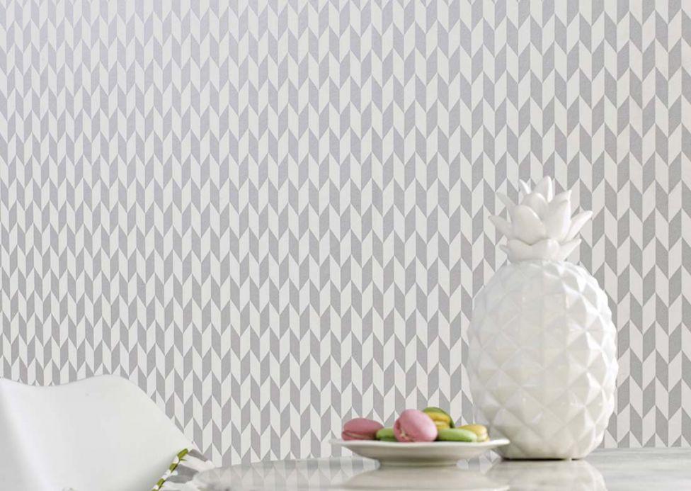 Archiv Papel pintado Teliko aluminio gris Ver habitación