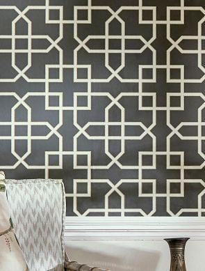 Wallpaper Ferro black Room View