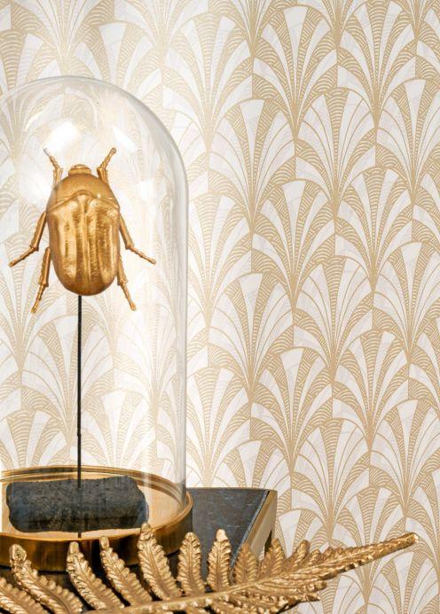 Classic Wallpaper Wallpaper Obidos pearl gold Room View