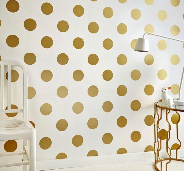 teena blanc dor brillant papier peint g om trique motifs du papier peint papier peint. Black Bedroom Furniture Sets. Home Design Ideas
