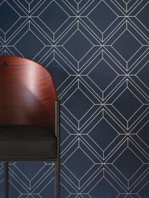 Wallpaper Malekid dark blue Room View