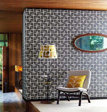 Papel pintado Tellus negro Ver habitación