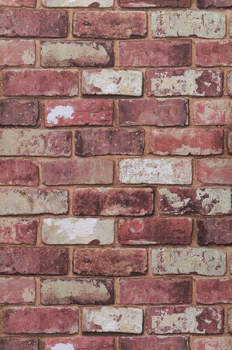 Archiv Papier peint Tamis rouge brun Largeur de lé