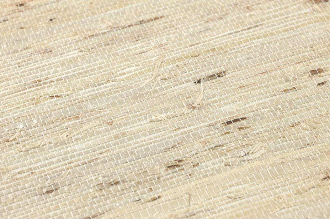 Papier peint Grasscloth 07 Mat Unicolore Crème Ivoire