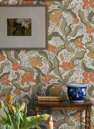 Wallpaper Edvin coral red