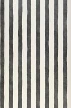 Tapete Tabaki Matt Streifen Cremeweiss Grau Schwarz