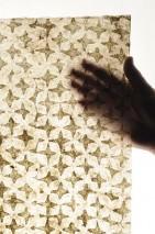 Papel de parede Dampa Estilo Batik Impresso à mão Mate Shabby chic Estrelas Bege Marrom sépia