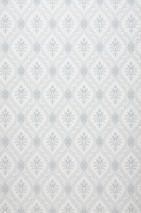 Papel de parede Sayos Mate Damasco barroco Losangos Branco creme Cinza Cinza claro