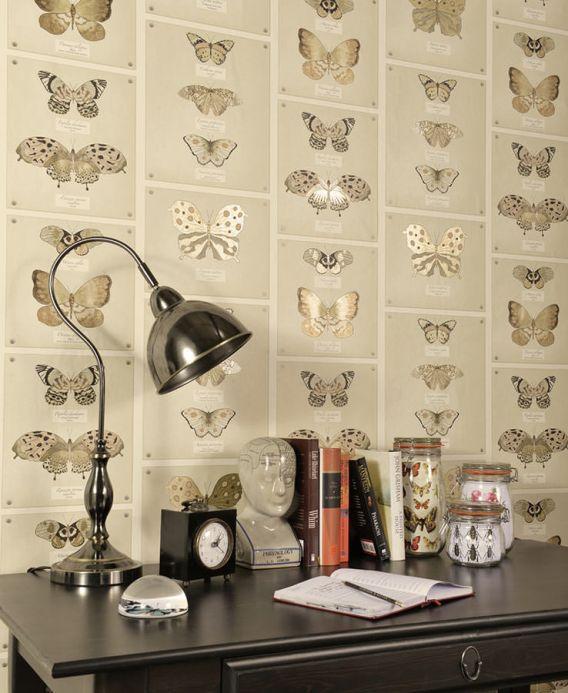 Archiv Papier peint Farfalla brun beige clair Vue pièce