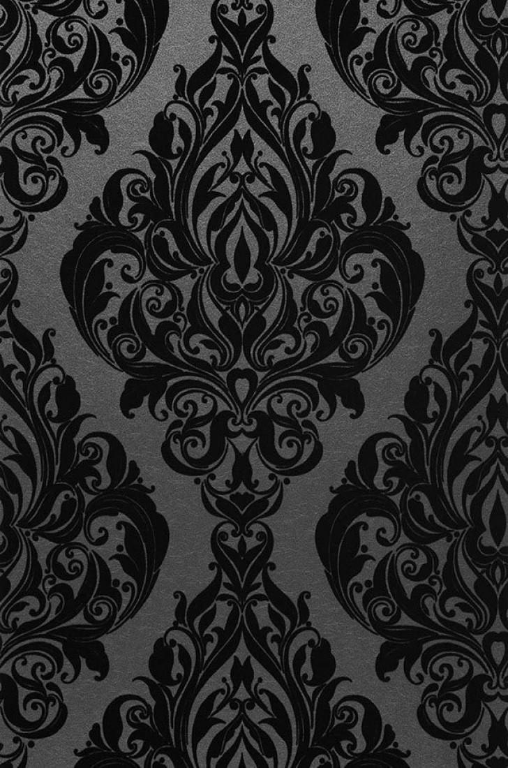 Papier Peint Eshara Anthracite Noir Papier Peint Des Annees 70