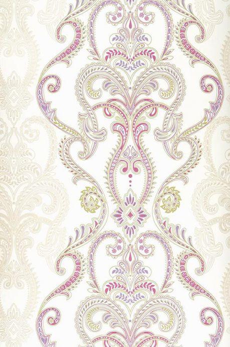 Archiv Papier peint Kesara violet rouge Largeur de lé