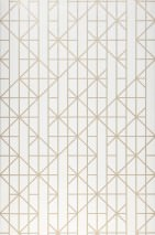 Wallpaper Gasco Matt Geometrical elements Pearl gold Cream