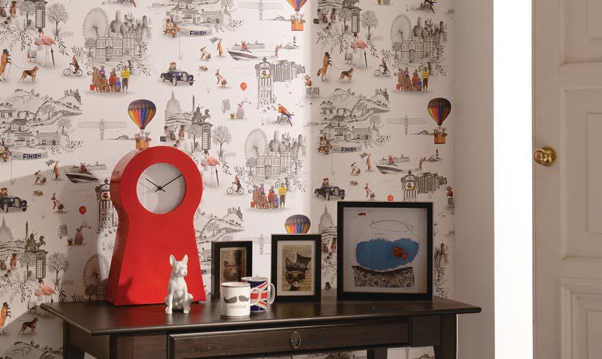 Ausgefallene Wandtapeten : Funky Kitchen Wall Paper