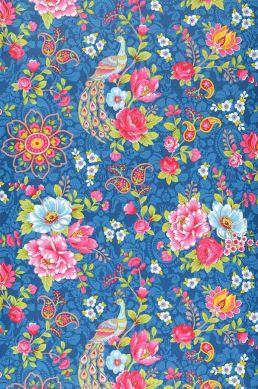 Papel pintado Ludmilla azul Ancho rollo