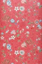Carta da parati Carline Opaco Foglie Fioritura Farfalle Uccelli Rosa antico Rosso beige Blu Kaki Rosso Bianco