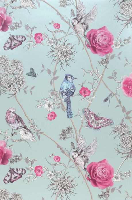 Romantic wallpaper Wallpaper Mariola heather violet Roll Width