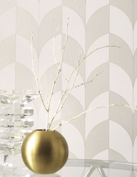 Geometric Wallpaper Wallpaper Caprice cream Room View