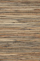 Wallpaper Grass on Roll 01 Matt Solid colour Black brown Beige Pale brown