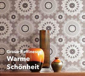 Entdecken Sie Ihren Tapeten Favoriten In Der Farbe Grau Als Grafische Tapete,  Blumentapete, Mit Barocken Mustern Und In Verschiedenen, ...