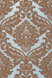 Papel pintado Rajah azul claro pastel