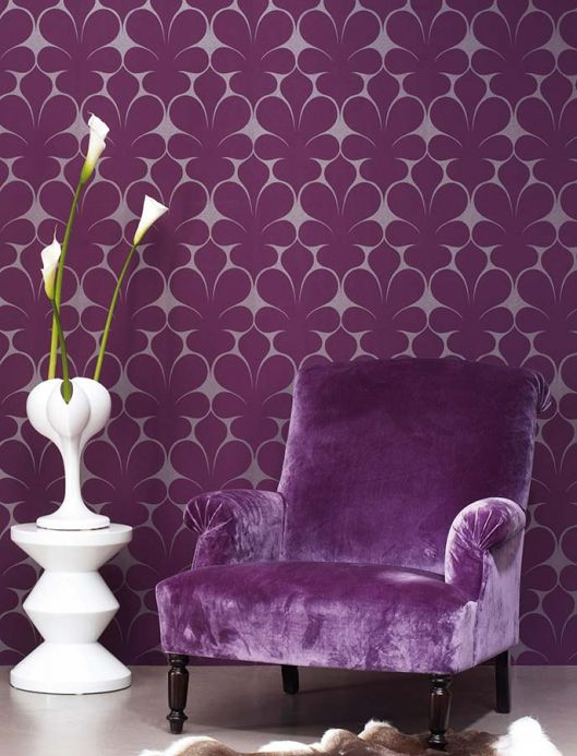 Archiv Wallpaper Velusa violet Room View