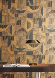 Wallpaper Paseo beige-brown shimmer