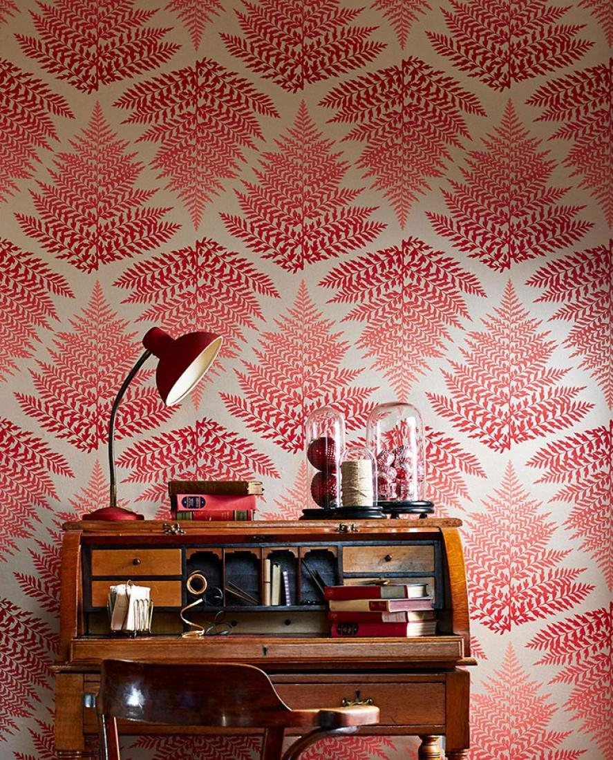 tapete mikura perlhellgrau rot tapeten der 70er. Black Bedroom Furniture Sets. Home Design Ideas