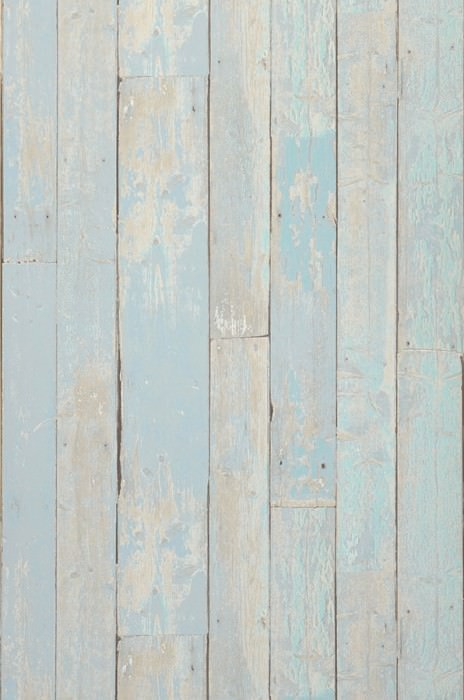 Wallpaper Country Wood Matt Old wooden boards Pale blue Grey beige Pastel turquoise Black brown