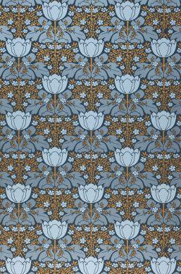 Papel pintado Marina gris azulado perla lustre Ancho rollo