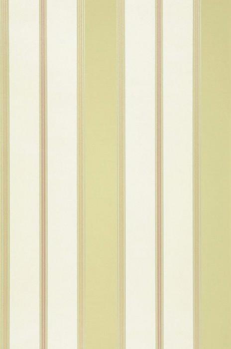 Tapete Tatex Matt Textilähnlich Streifen Cremeweiss Beige Gelbgrün Silber