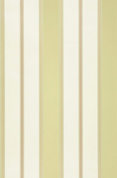 Papel pintado Tatex Mate Efecto textil Rayas Blanco crema Beige Verde amarillento Plata