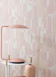 Papel de parede Asenio rosa claro