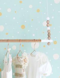 Wallpaper Confetti pastel turquoise