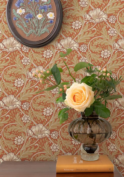Classic Wallpaper Wallpaper Hilde red Room View