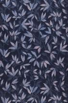 Papel de parede Dagista Mate Folhas gavinhas Azul acinzentado Azul pálido Azul pombo Rosa pálido