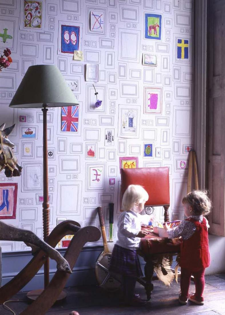 Ausmaltapete-Kindergarten