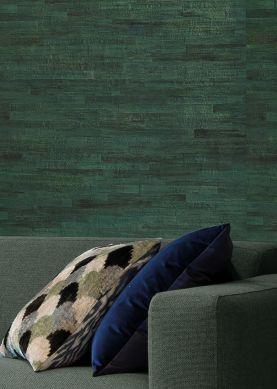Papier peint Water Hyacinth 01 tons de vert Raumansicht