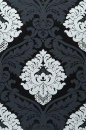 Papel pintado Rajah negro laqueado
